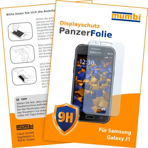 Panzerglasfolie Hartglas 9H für Samsung Galaxy J1 (2015)