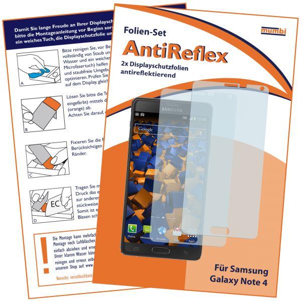 Displayschutzfolie 2 Stck. AntiReflex für Samsung Galaxy Note 4