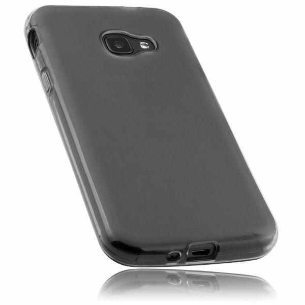 TPU Hülle schwarz transparent für Samsung Galaxy Xcover 4 / 4s