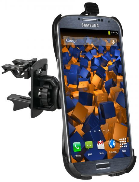 Lüftungsschlitz KFZ Halterung Schale aufstellbar für Samsung Galaxy S4