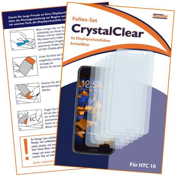 Displayschutzfolie 6 Stck. CrystalClear für HTC 10