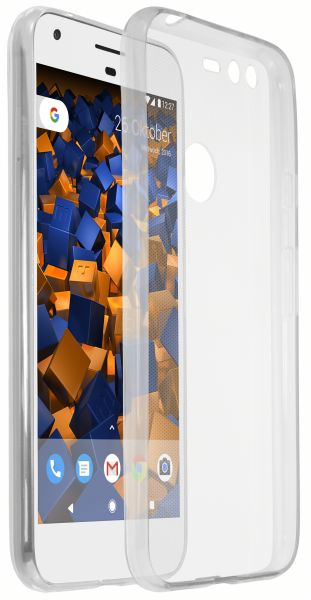 TPU Hülle Ultra Slim weiß transparent für Google Pixel XL