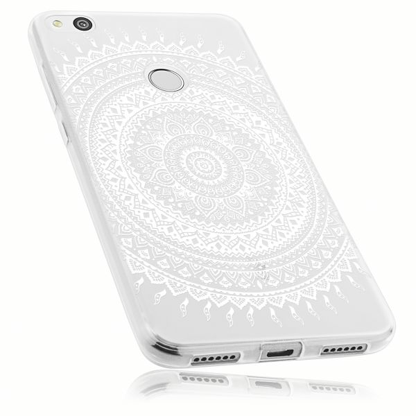 TPU Hülle transparent Motiv Mandala für Huawei P8 Lite (2017)