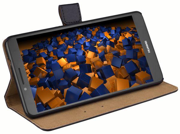 Bookstyle Ledertasche schwarz für Huawei Ascend Mate 7