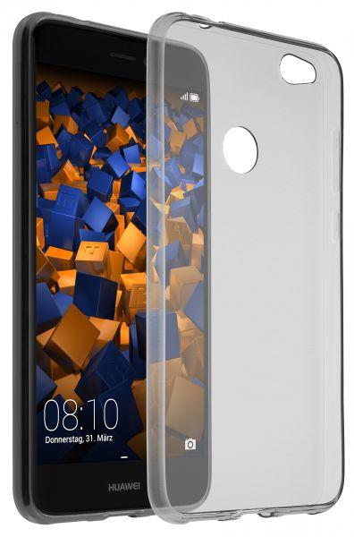 TPU Hülle Ultra Slim schwarz transparent für Huawei P8 Lite (2017)