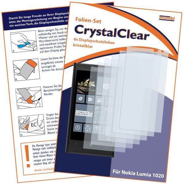 Displayschutzfolie 6 Stck. CrystalClear für Nokia Lumia 1020