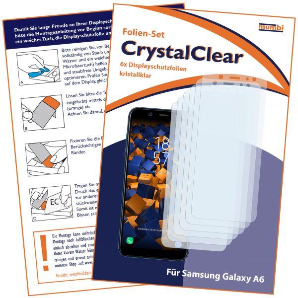 Displayschutzfolie 6 Stck. CrystalClear für Samsung Galaxy A6