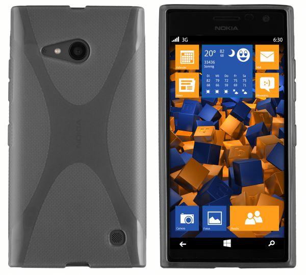 TPU Hülle X-Design schwarz transparent für Nokia Lumia 730 / 735