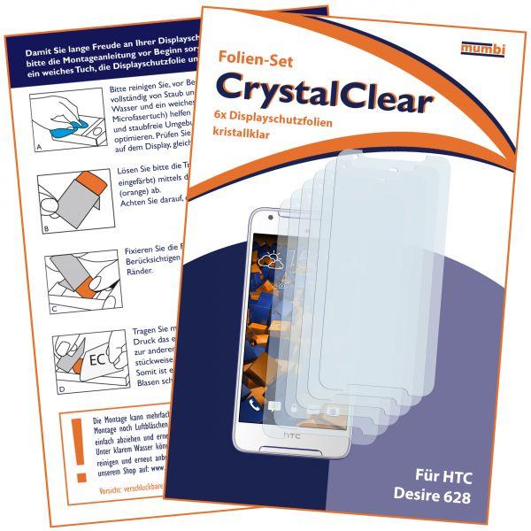 Displayschutzfolie 6 Stck. CrystalClear für HTC Desire 628