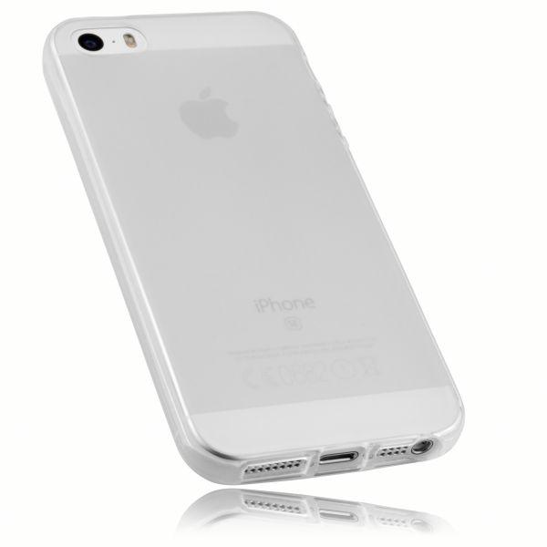TPU Hülle transparent weiß für Apple iPhone SE / iPhone 5 / 5s