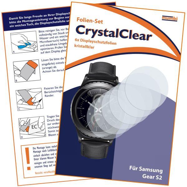 Displayschutzfolie 6 Stck. CrystalClear für Samsung Gear S2
