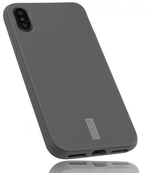 TPU Hülle grau mit Logo für Apple iPhone XS / X