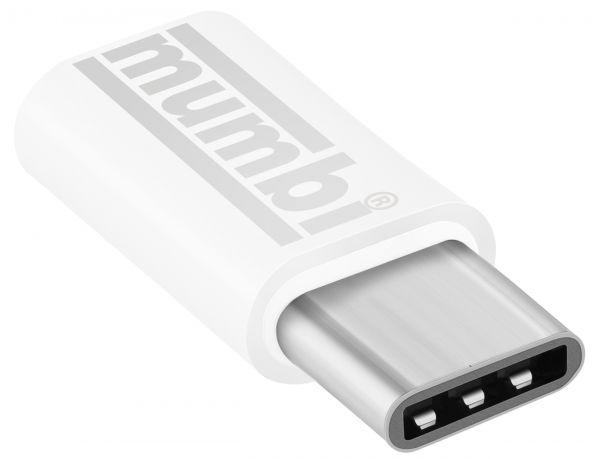 Adapter weiß USB 3.1 Typ C (Stecker) auf Micro USB (Buchse)
