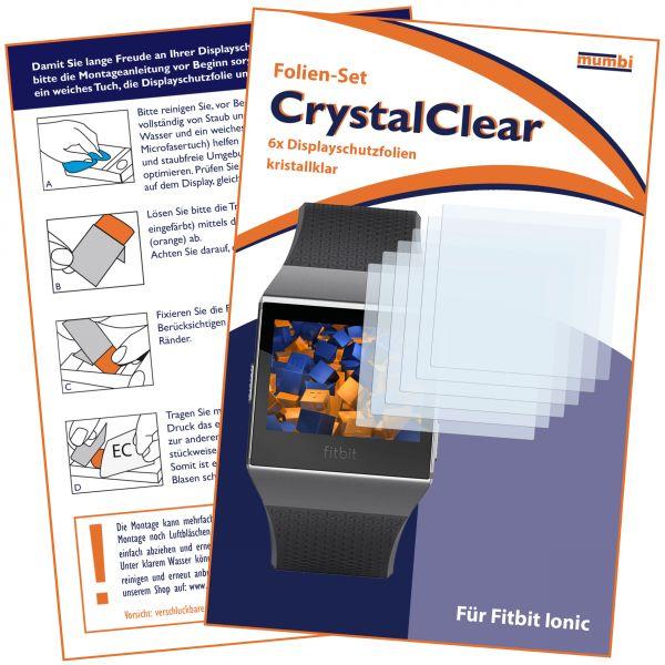 Displayschutzfolie 6 Stck. CrystalClear für Fitbit Ionic Smartwatch