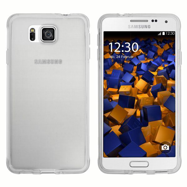 TPU Hülle transparent weiß für Samsung Galaxy Alpha
