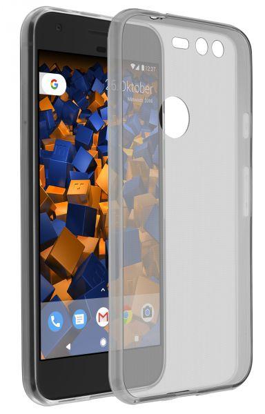 TPU Hülle Ultra Slim schwarz transparent für Google Pixel