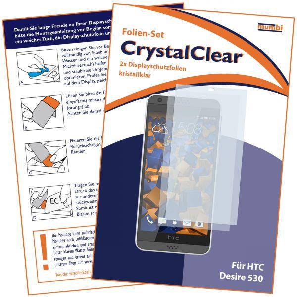 Displayschutzfolie 2 Stck. CrystalClear für HTC Desire 530