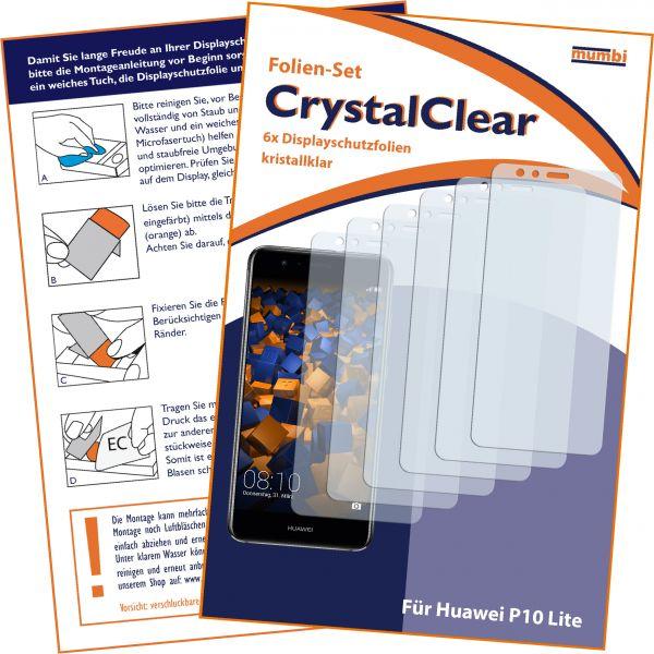 Displayschutzfolie 6 Stck. CrystalClear für Huawei P10 Lite
