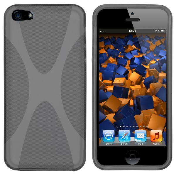 TPU Hülle X-Design transparent schwarz für Apple iPhone SE / 5 / 5s