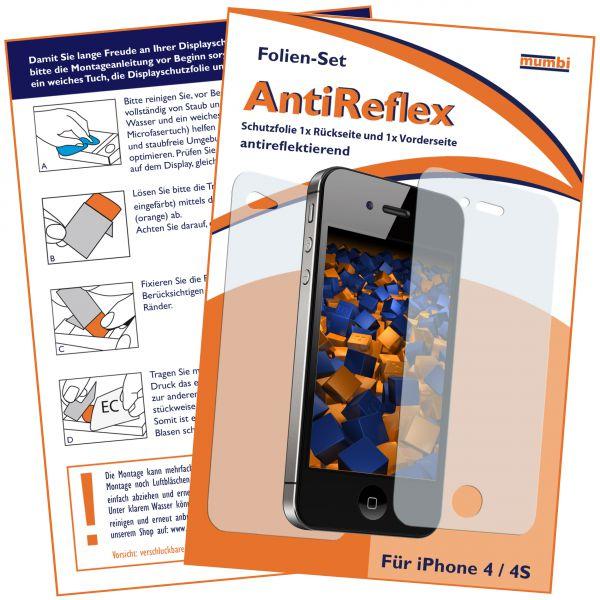 Displayschutzfolie 2 Stck. AntiReflex für Apple iPhone 4 / 4s (1x vorne und 1x hinten)