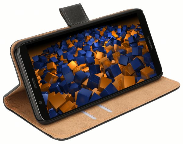 Bookstyle Tasche schwarz für Huawei P Smart