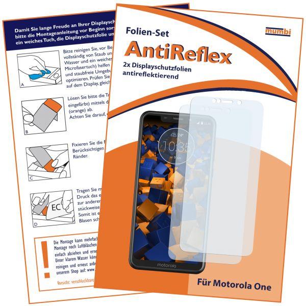 Displayschutzfolie 2 Stck. AntiReflex für Motorola One