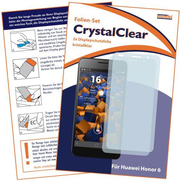 Displayschutzfolie 2 Stck. CrystalClear für Huawei Honor 6