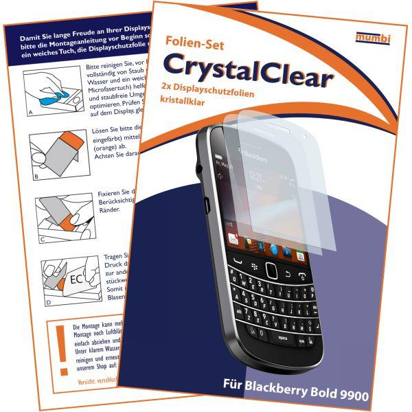 Displayschutzfolie 2 Stck. CrystalClear für Blackberry Bold 9900