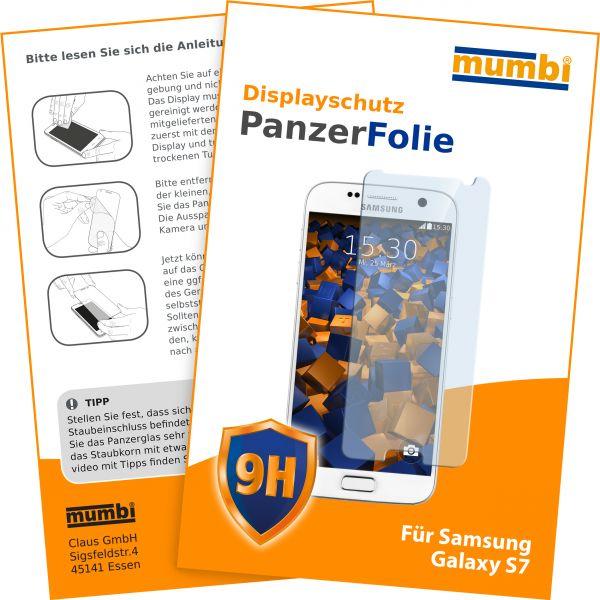 Panzerglasfolie Hartglas 9H für Samsung Galaxy S7
