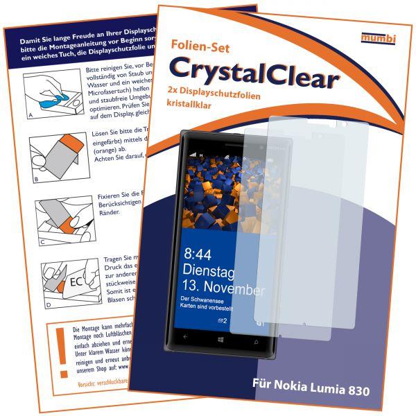 Displayschutzfolie 2 Stck. CrystalClear für Nokia Lumia 830