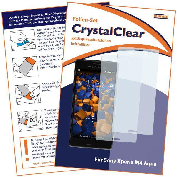Displayschutzfolie 2 Stck. CrystalClear für Sony Xperia M4 Aqua