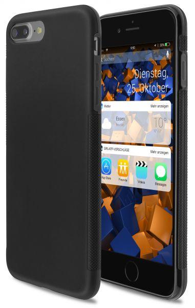 TPU Hülle double GRIP schwarz für Apple iPhone 8 Plus / 7 Plus