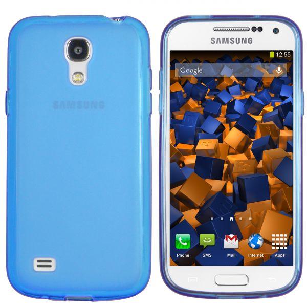 TPU Hülle transparent blau für Samsung Galaxy S4 Mini
