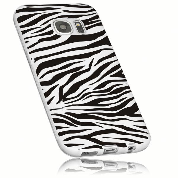 TPU Hülle weiß transparent Motiv Zebra für Samsung Galaxy S7