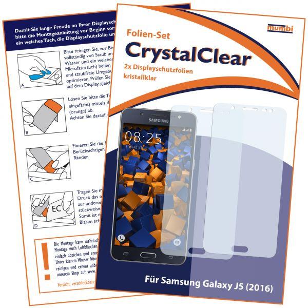 Displayschutzfolie 2 Stck. CrystalClear für Samsung Galaxy J5 (2016)