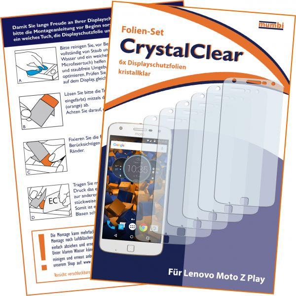 Displayschutzfolie 6 Stck. CrystalClear für Lenovo Moto Z Play