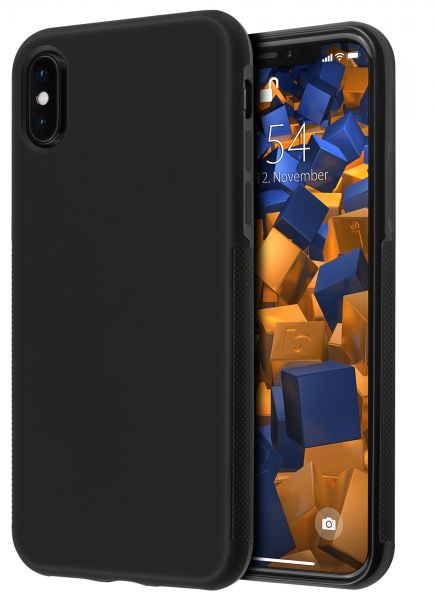 TPU Hülle double GRIP schwarz für Apple iPhone XS / X