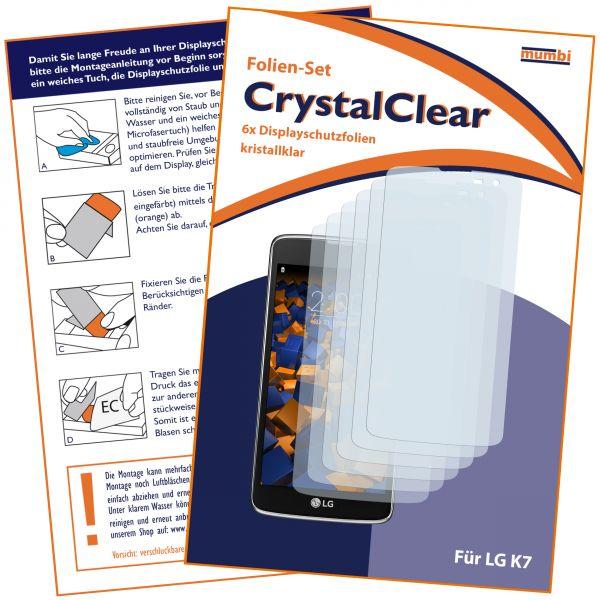 Displayschutzfolie 6 Stck. CrystalClear für LG K7