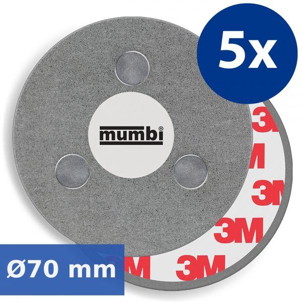 Magnetbefestigungen für Rauchmelder 5er Set
