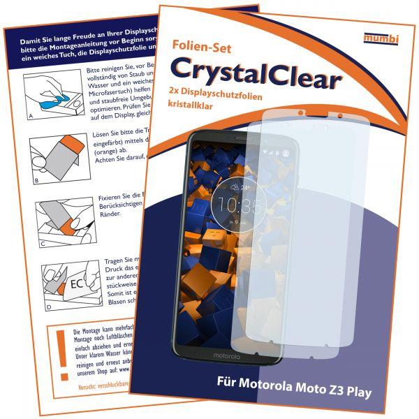 Displayschutzfolie 2 Stck. CrystalClear für Motorola Moto Z3 Play