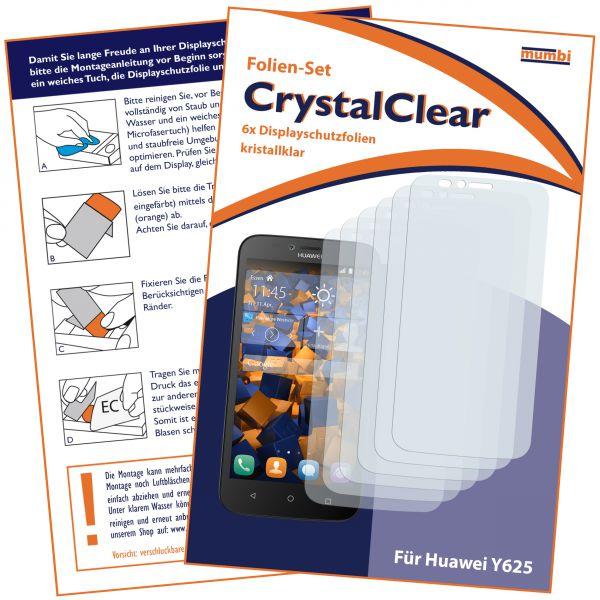 Displayschutzfolie 6 Stck. CrystalClear für Huawei Y625