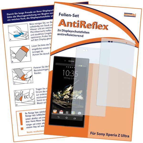 Displayschutzfolie 2 Stck. AntiReflex für Sony Xperia Z Ultra