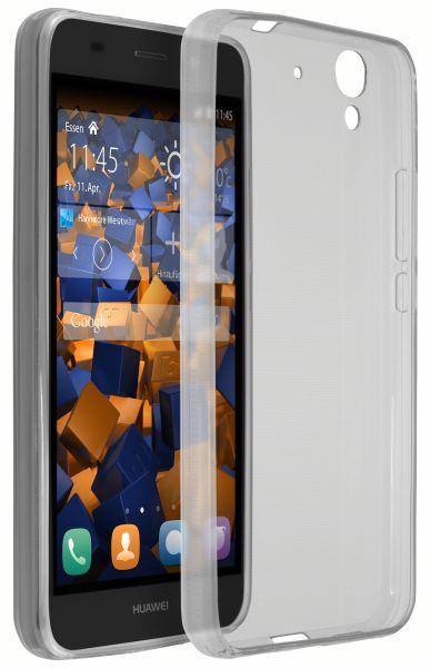 TPU Hülle Ultra Slim schwarz transparent für Huawei Y6 (2015)