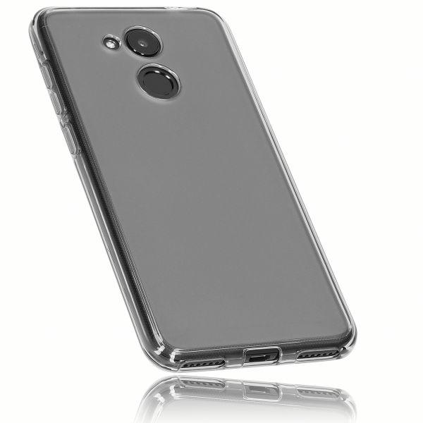 TPU Hülle schwarz transparent für Huawei Honor 6C Pro