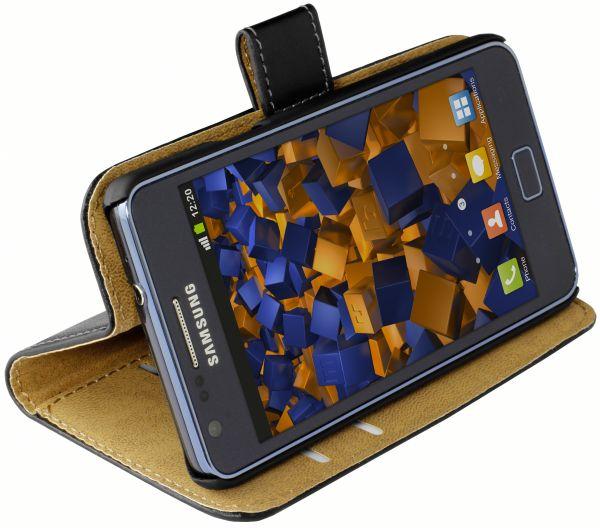 Bookstyle Tasche schwarz für Samsung Galaxy S2