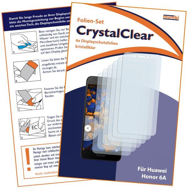 Displayschutzfolie 6 Stck. CrystalClear für Huawei Honor 6A