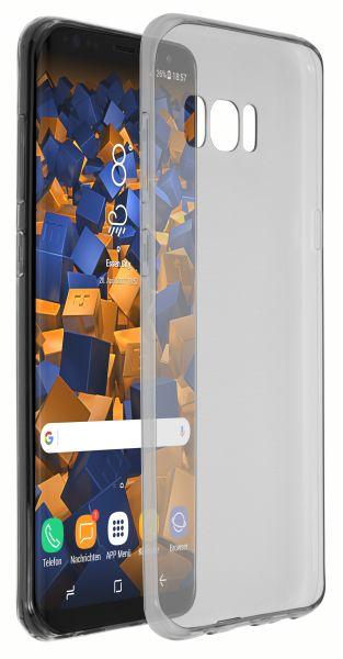 TPU Hülle Ultra Slim schwarz transparent für Samsung Galaxy S8 Plus