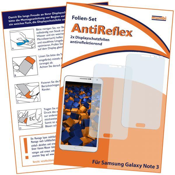 Displayschutzfolie 2 Stck. AntiReflex für Samsung Galaxy Note 3