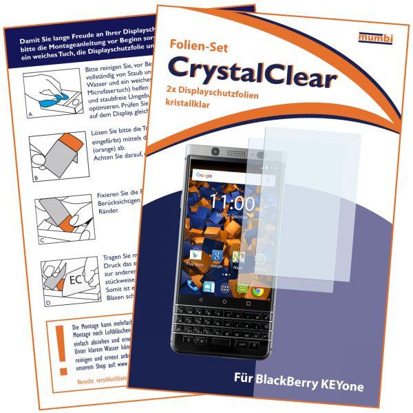 Displayschutzfolie 2 Stck. CrystalClear für Blackberry KEYone