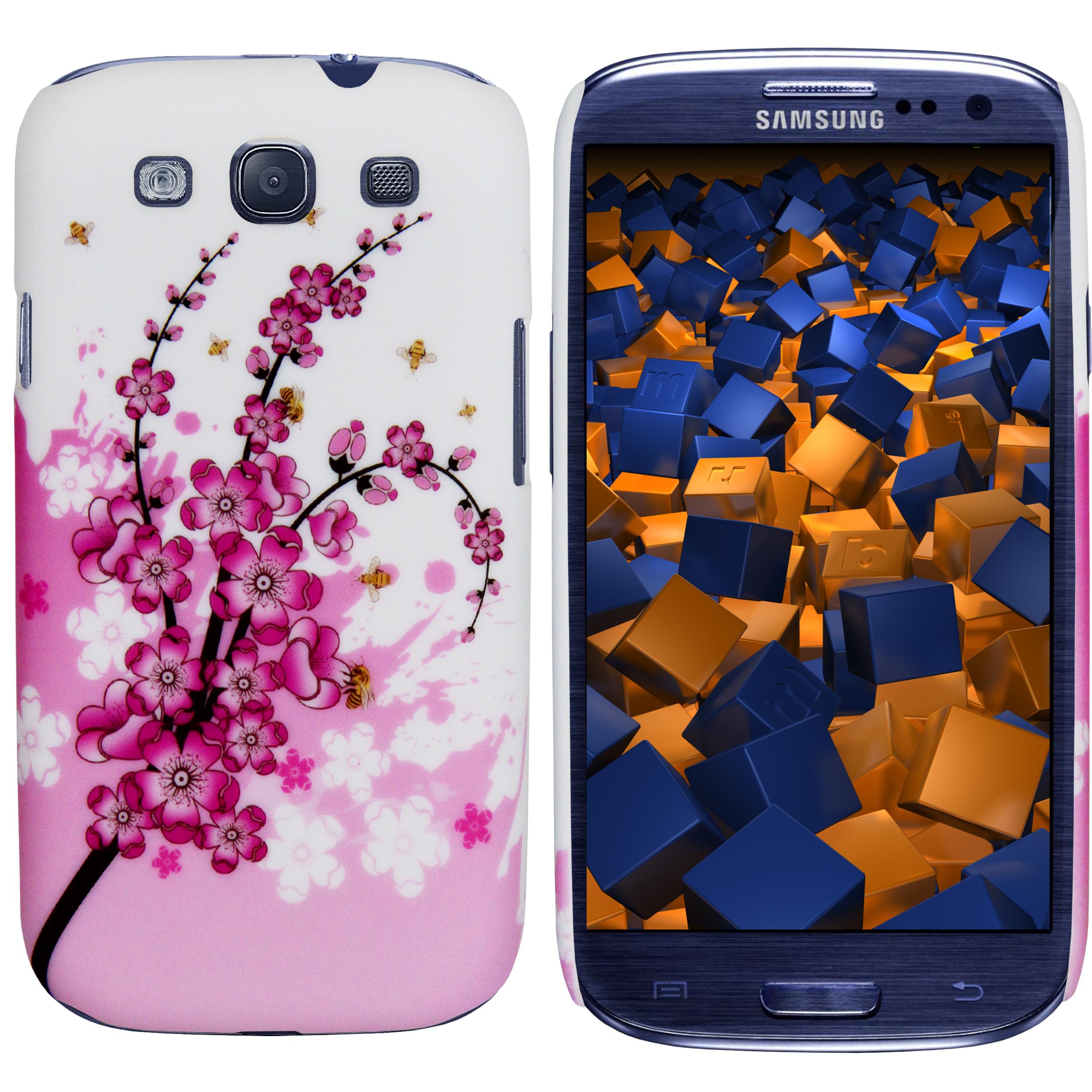 Hard Case Hülle matt rosa Kirschblüte für Samsung Galaxy S3 S3 Neo